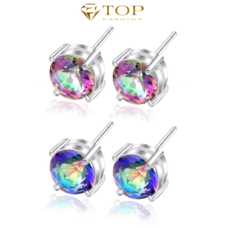 Top Jewelry 2014 Hot Value of the cute stud earrings precious unique Dazzling crystal stud earrings E0031/E0032(China (Mainland))