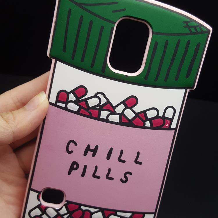 For S5 Fashion 3D Love Potion Chill Pills Bottle Soft Silicone Cover Case For Samsung GALAXY S5 i9600 Phone Cases