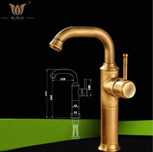 Buy New Arrive Bathroom faucet Single Handle Sink Mixer tap Antique Brass finish Hot Cold Water tap FES-5077 for $60.00 in AliExpress store