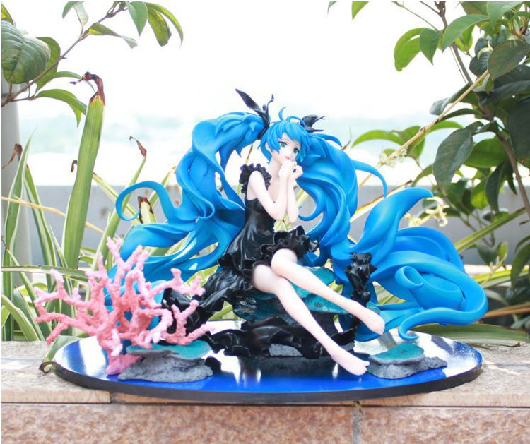 Graet Quality!!! Japanese Amine SVOCALOID Hatsune Miku Deep Sea 15cm PVC Action Figure Model Collection Toys Gift<br><br>Aliexpress