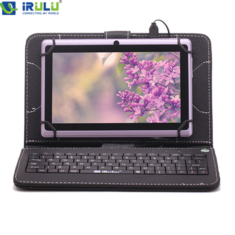 """iRULU eXpro 7"""" Android 4.4 Tablet PC 1024*600 HD 3G/WIFI Allwinner A33 Quad Core 16GB With Keyboard Purple High Quality New Hot(China (Mainland))"""