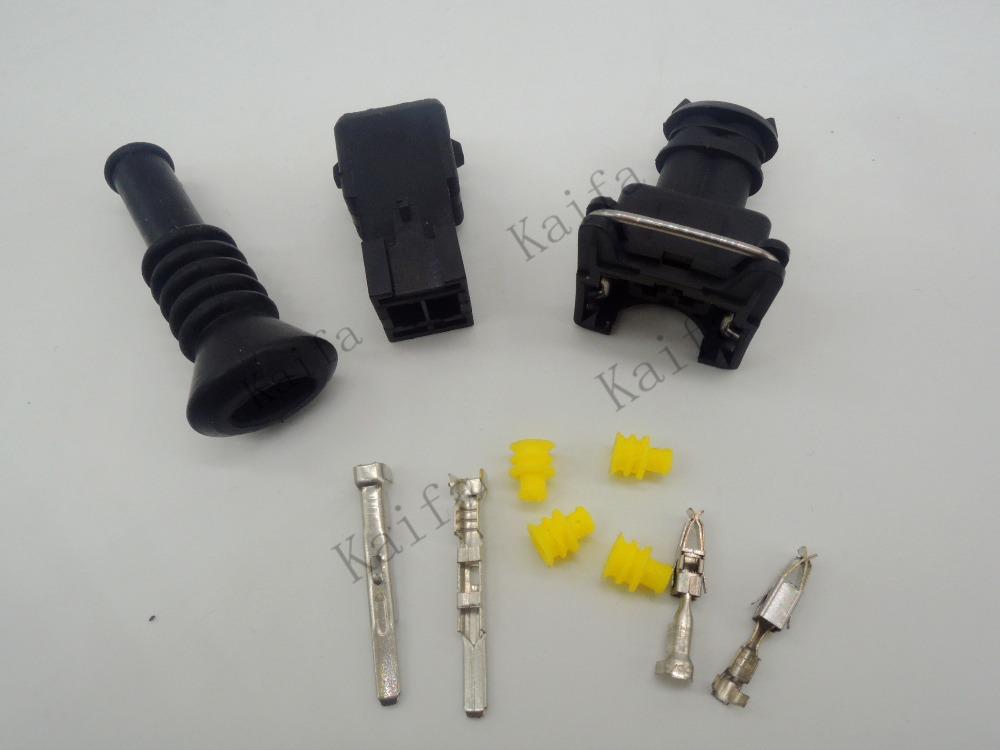 Set ev fuel injector plug nozzle cars waterproof pin