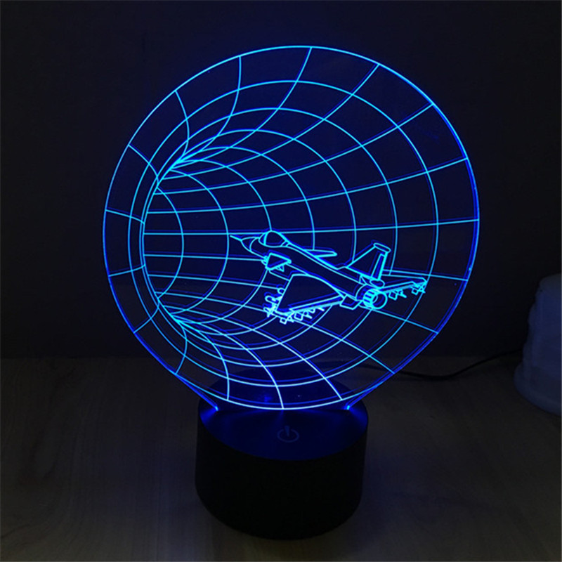 Hot LED Table Lamp Starlight time tunnel Bedroom Night Light Acrylic Lamp Dark World of Home Decoration Light 3D-TD44(China (Mainland))