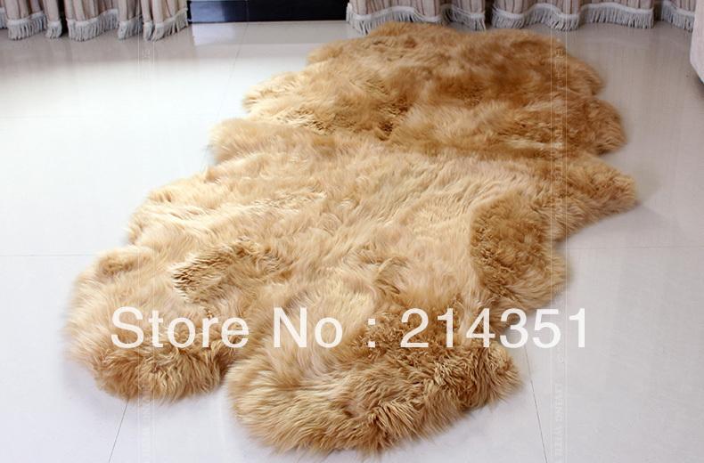 Wonderfur sg4002 4p quad sheepskin rug 120 200cm sheep for Fur carpet ikea