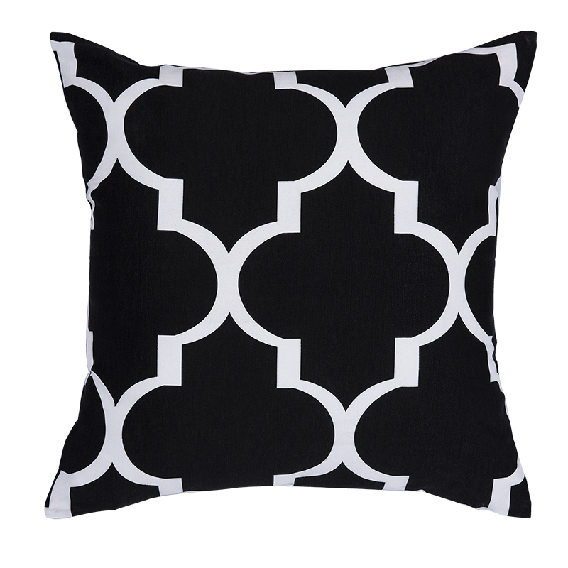 Black And White Geometric Throw Pillows : High Quality Printed Geometric Cushions Decorative Throw Pillow Black and White Cushion ...