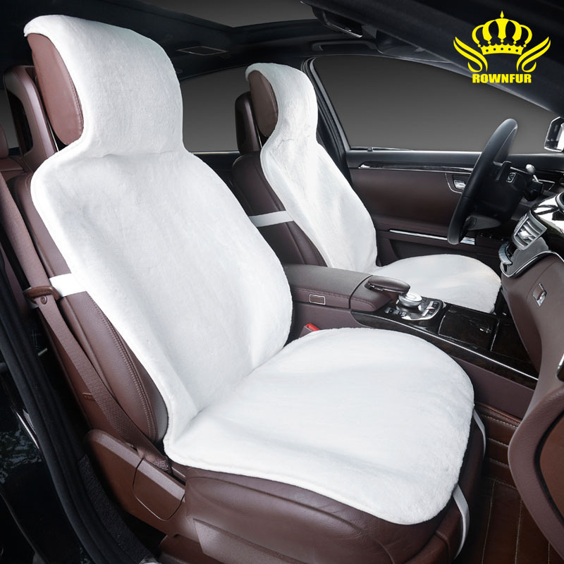 buy car seat covers set white faux fur cute covers for car interior accessories. Black Bedroom Furniture Sets. Home Design Ideas