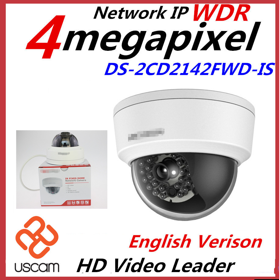 Гаджет  New English Version IP Camera 4MP Firmware V5.3.3 Multi Language Mini Dome Camera POE IP CCTV Camera DS-2CD2142FWD-I-2.8mm None Безопасность и защита