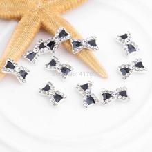 10pcs 3D Metal Rhinestone Bowknot Women for Nail Art Supplies Gel Nail Charms Jewelry Glitters Tips Decoration Manicure Acrylic(China (Mainland))