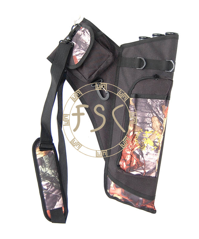 Camo 3D arrow quiver archery for hunter bow target shot  hunting and shooting arrow bag arrow belt Pouch free shipping