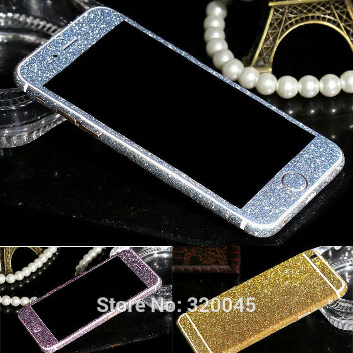 Гаджет  Glitter shiny foil Sticker matte protective color film for iPhone6 4.7 flash body film shiny phone front and back protector None Телефоны и Телекоммуникации