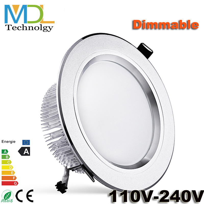 AC110-240V 3W 5W 7W 9W 12W 15W Recessed Dimmable Led White Downlight Ceiling Lamp Spot Light Indoor Home Lighting - MDL Co., LTD Store store