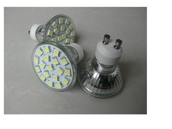 SMD LED Spot light;GU10 base;15pcs 5050 led<br><br>Aliexpress