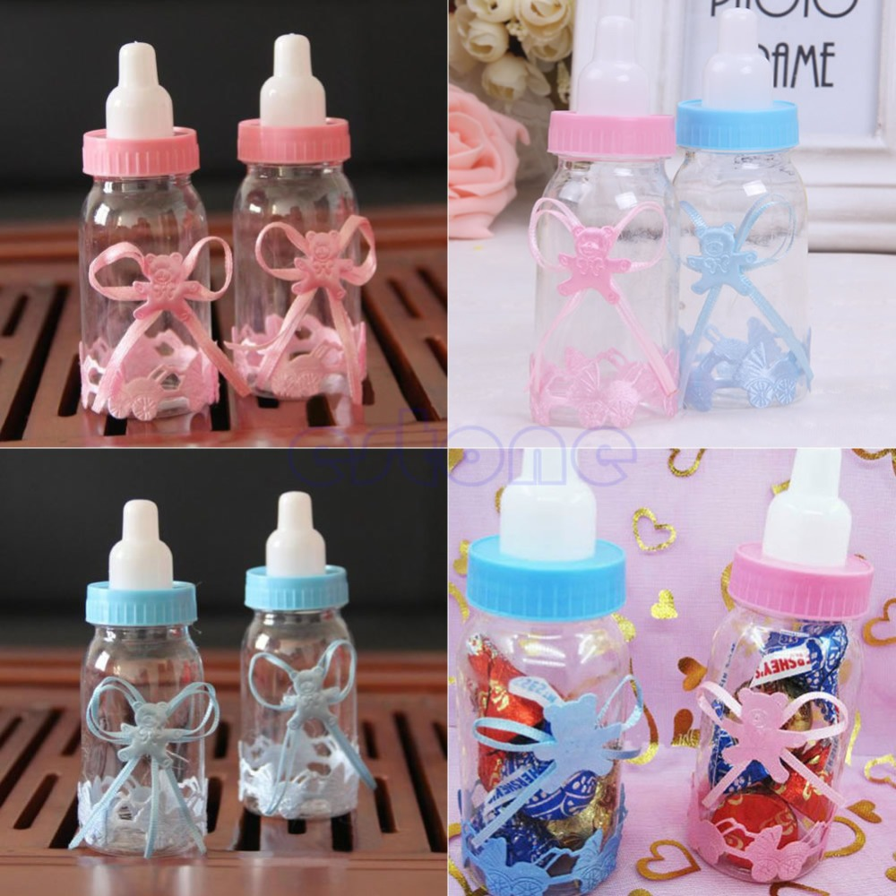 12pcs Baby Candy Box Bottle Baby Shower Baptism Party Favours Christening Gift(China (Mainland))