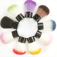 Модные Мини Nail Art Кисть Для Пудры Пыли Чистый Хрустальный Горный Хрусталь Кисти Для Макияжа 1 ШТ.