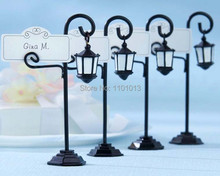 10pcs/lot Bourbon Street Streetlight Wedding Place Card Holder Wedding Favors Gifts Party Accessory Decoration Supplies