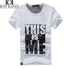 2015 nueva Arrive100 % hombres Contton marca camisetas Slim Fit camiseta del amante impreso moda de manga corta para hombres ropa ropa 5067(China (Mainland))