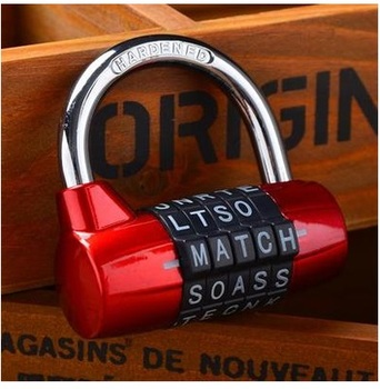 Red Color Mini 5 Letter Combination Password Code Padlock Door Lock Travel Luggage Cases Boxes Mailboxes Lock Suitcase