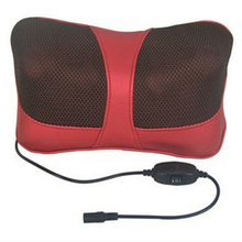 Infrared Heating Double Beauty Body Device Neck Massage Pillow Car Massager Cushion Seat Covers US plug 110-240V(China (Mainland))