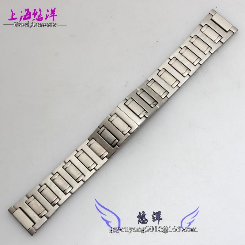 Твердых браслет из нержавеющей стали 22 мм стальной ленты fit мужские часы