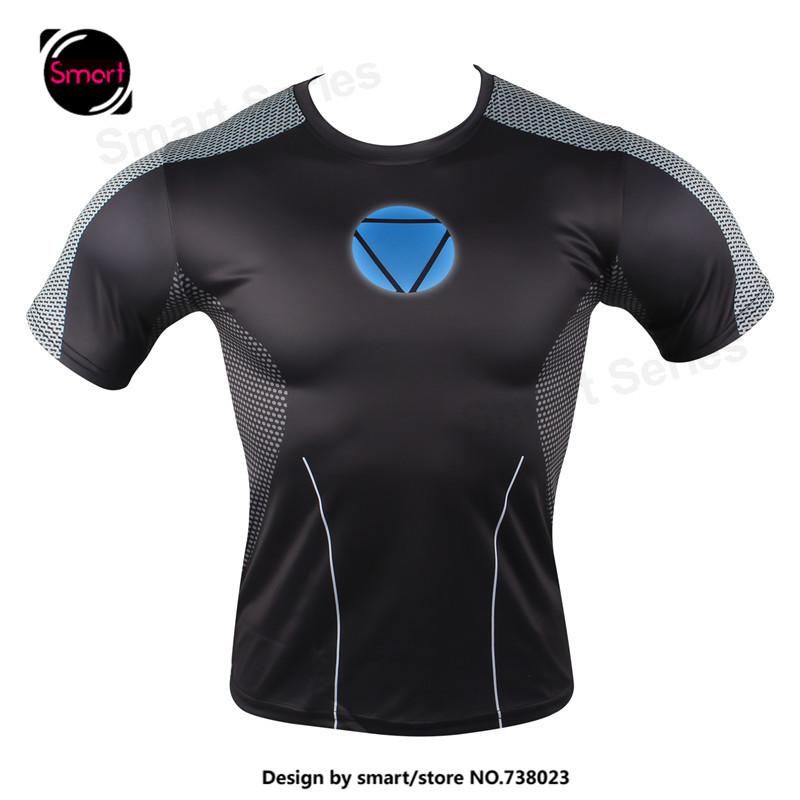 Marvel Superhero Avengers Spiderman Captain America Ironman T Shirt Men Base Layer Thermal tshirt homme Plus size MMA - Smartdoo store