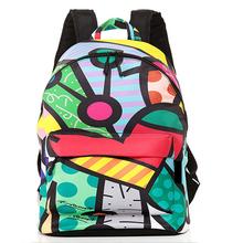 Wild Famous Fashion Backpack Graffiti Travel Bag New Design graffiti Style Retro Backpack & Shoulders Bag Youth Doodle Backpack(China (Mainland))