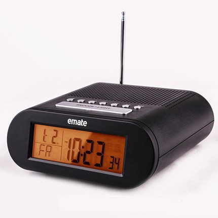 led radio controlled digital alarm clock with snooze power line free frozen e. Black Bedroom Furniture Sets. Home Design Ideas