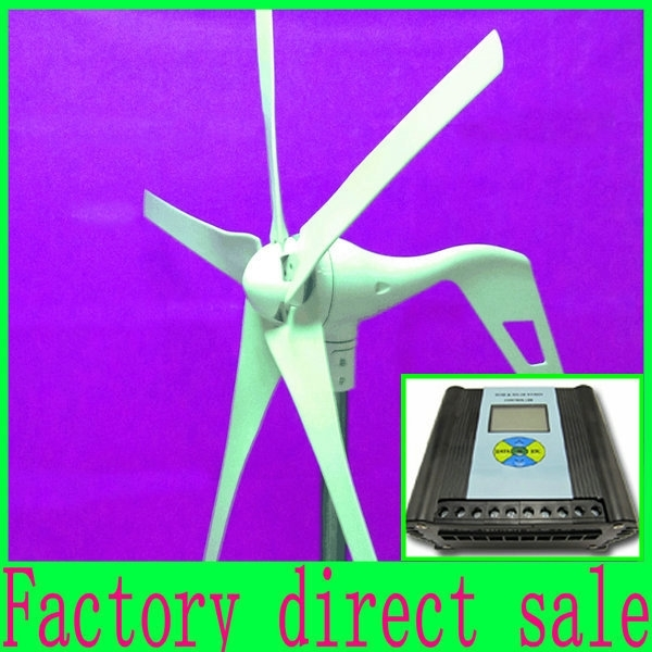 Wind power turbine 600W Max 12/24V wind generator, With LCD display Wind/Solar Hybrid Controller,Low Price+3 Years Warranty(China (Mainland))