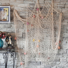 Buy Popular Mediterranean Style Home Nautical Decorative 2M*1M Fishing Net Design Seaside Beach Shell Party Door Wall Decoration for $5.36 in AliExpress store