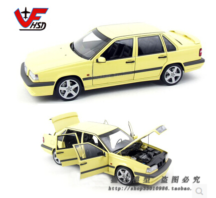 store opening Volvo 850T-5R Sedan Autoart 1:18 yellow Limited collection Classic models Original alloy car model(China (Mainland))