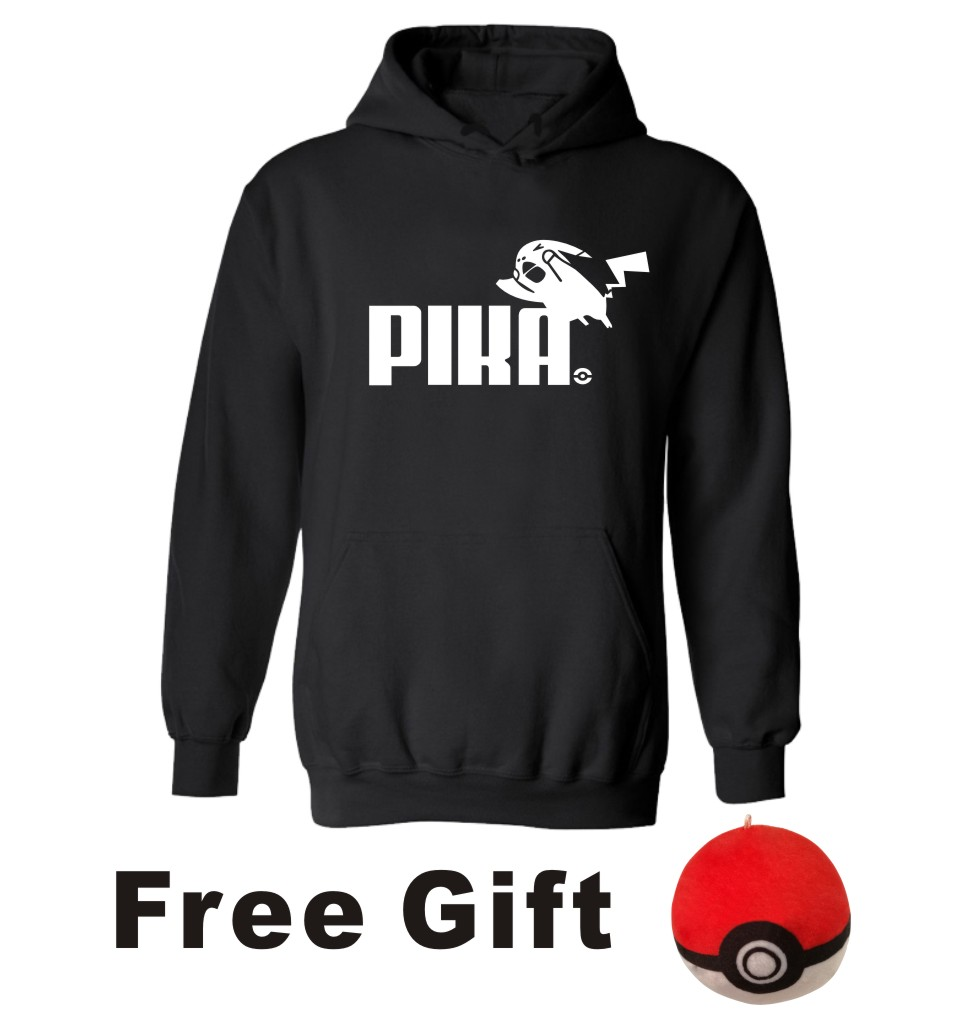 PIKA in Pokemon Go Hooded Man hoodies and Autumn winter with Pocket Monster Hoodies Plus Size Men Kids couples(China (Mainland))