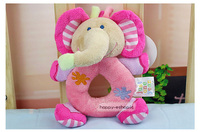 2016 Hot Cute Baby Girls Boys carter Infant Hand Rattles Animal Soft Plush Doll Educational Carter's  Toys 0+ Pink Elephant