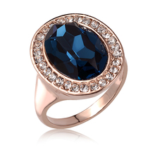 Best Quality Genuine 18K Gold Plated Luxury Exaggerated Wedding Zircon Crystal Rings Female Statement Jewelry Accessories