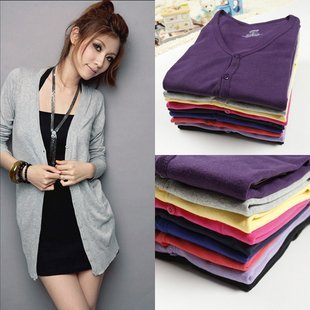 2013 Solid Cardigan Suits Knitwear women Casual Gardening Look Sweatershirts Free Shipping 2071011