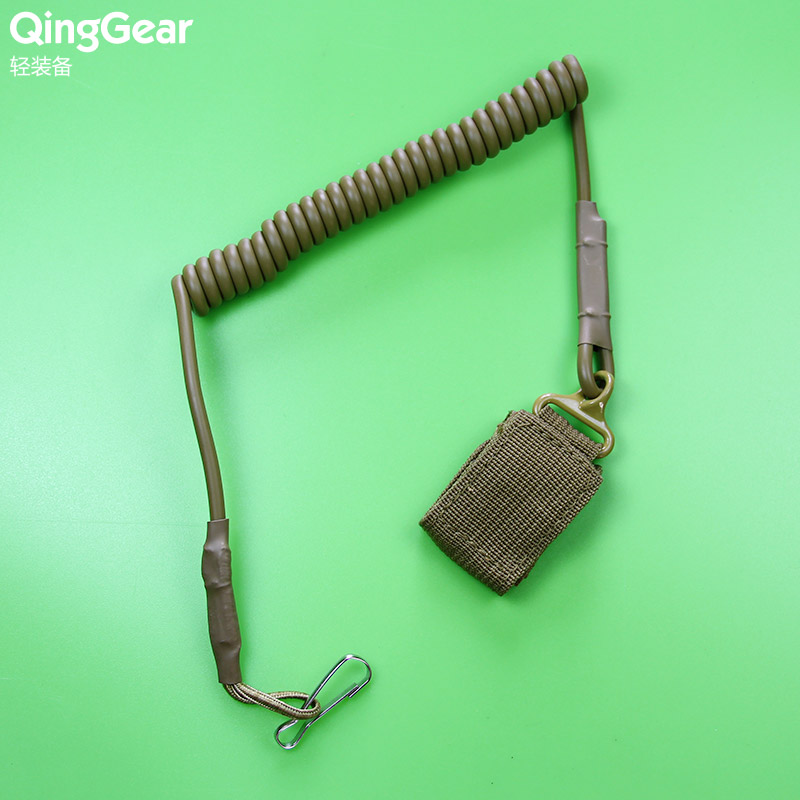 Tactical Retention Lanyard Elastic Spring Sling Belt Outdoor Combat Gear, free Shipping(China (Mainland))