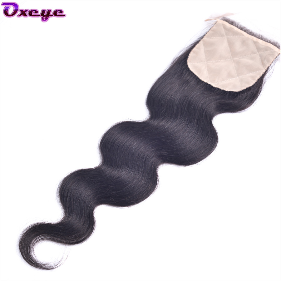 Silk Base Closure Brazilian Body Wave 7A Brazilian Silk Base Closure Body Wave Cheap Human Hair Brazilian Hair Silk Base Closure(China (Mainland))