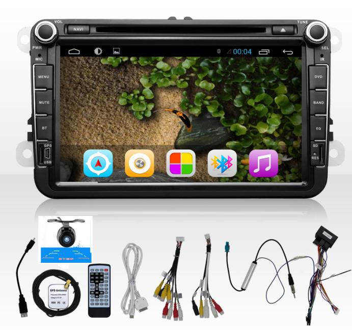 Android 4.2 car dvd player gps Two Din 8 Inch For Volkswagen VW Skoda POLO PASSAT B6 CC TIGUAN GOLF 5 Fabia wifi free cam 1080p(China (Mainland))