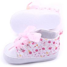 Горячей продаж детская обувь девушки хлопок цветочные детская мягкая подошва ребенок впервые уокер малышей обувь(China (Mainland))