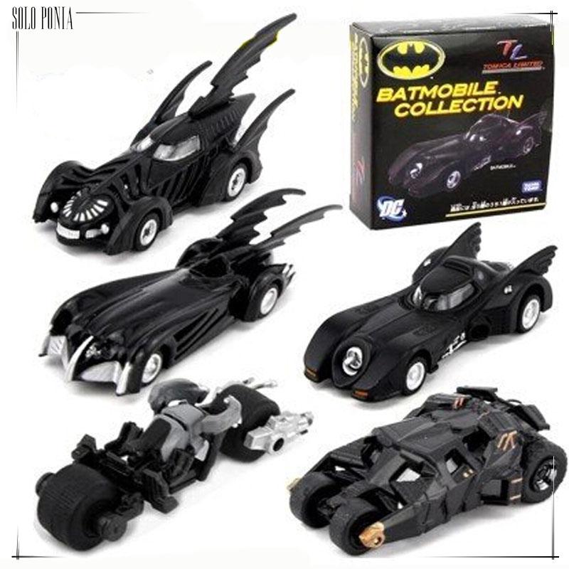 5 piece Batman Vehicles set Super Cool Black Alloy Batmobile Car Models Metal Material Batman Boy's Toy Car 5 pieces set(China (Mainland))