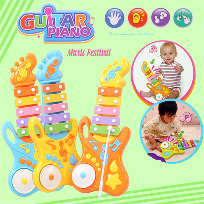 1Piece Kids Musical Toy Knowledge Clever Guitar For Child Music Instruments(China (Mainland))