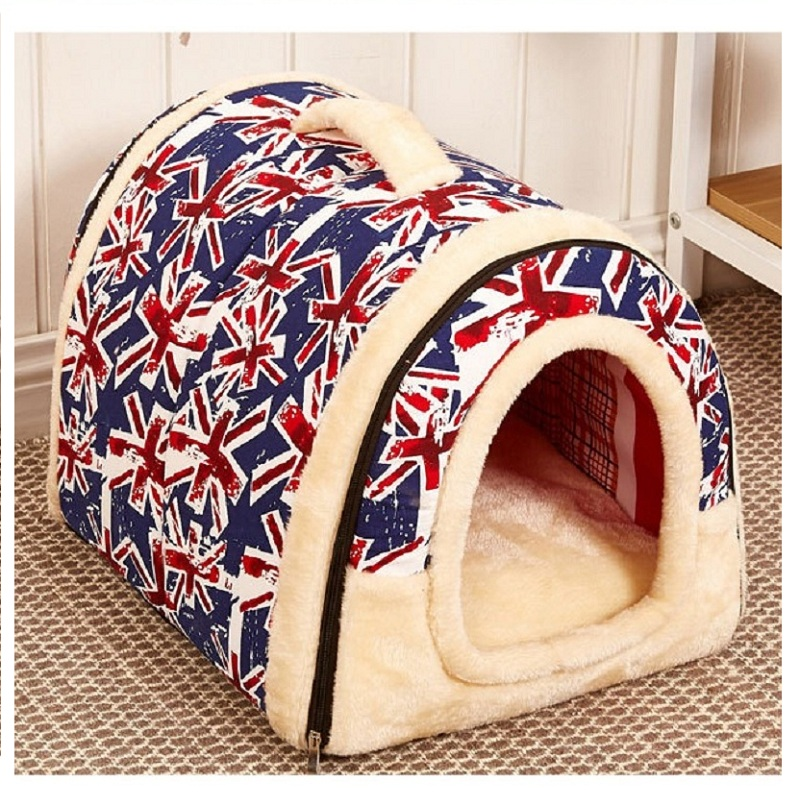 Multifuctional Dog House Nest with Mat Foldable Pet Dog Bed Cat Bed House For Small Medium Dogs Travel Pet Bag Product(China (Mainland))