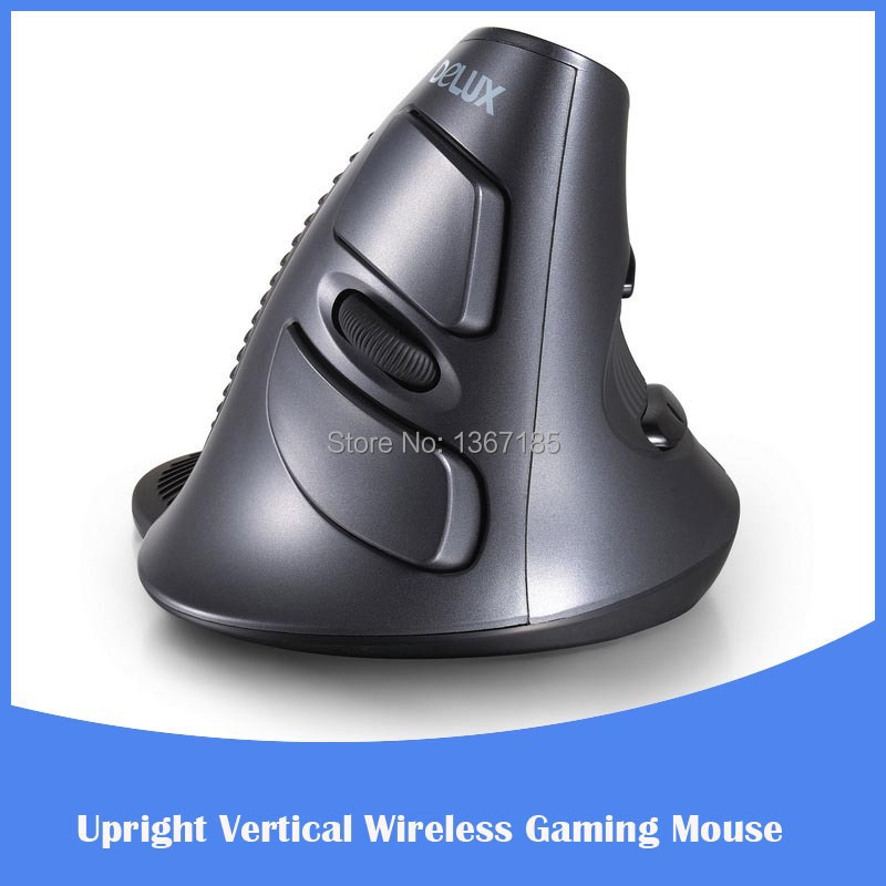 5D Wireless Gaming Vertically Upright Vertical 2.4GH Optical Wireless Ergonomic Mouse Optical Gaming Mouse(China (Mainland))