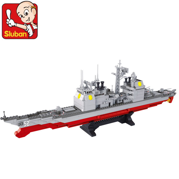 Building Block Set Compatible with lego Marine Cruisers military 883 pcs 3D Construction Brick Educational Hobbies Toys for Kids<br><br>Aliexpress