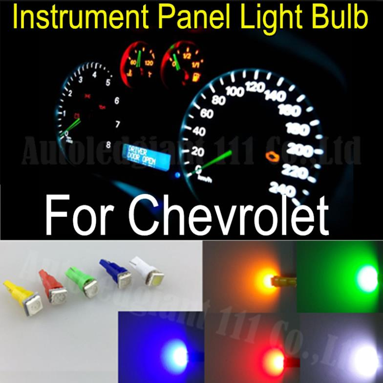 25x T5 Led Light 286 White Red Blue Green Yellow SMD Car Gauge Dash bulb Speedo Dashboard Instrument Light For Chevrolet Cruze<br><br>Aliexpress