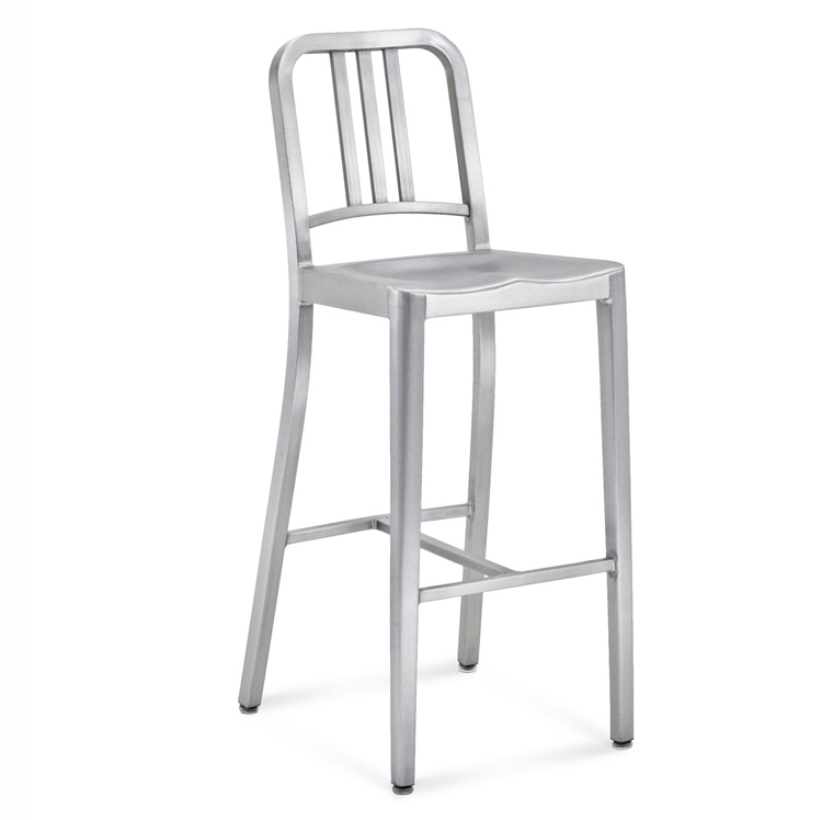 Fashion Designer Aluminum Bar Chairs Metal Chairs