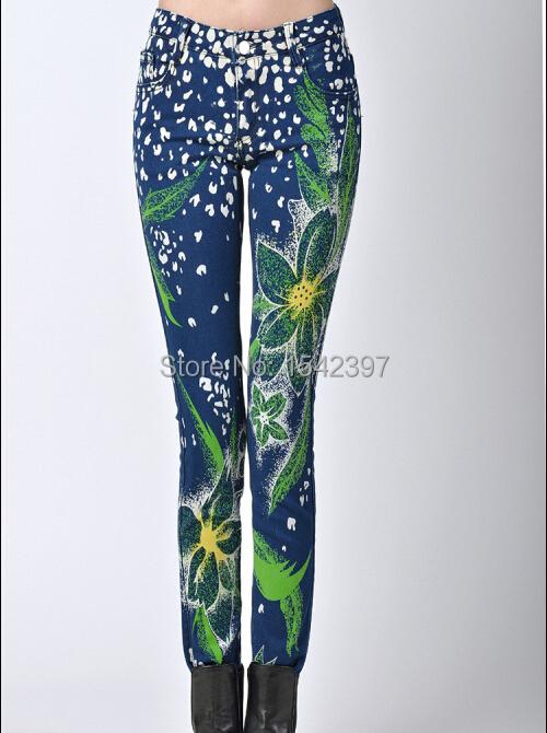 autum winter fashion slim women trousers print &elastic casual pants - Amery's finca store