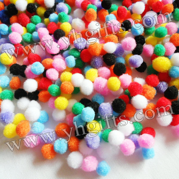 5000PCS/LOT.1cm Pompoms,Doll accessories,Handmade crafts,Craft material.Pom-pom.Kindergarten supplies.Freeshipping.Wholesale.(China (Mainland))
