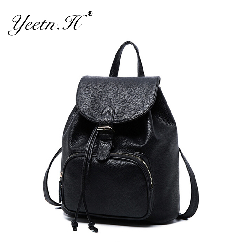 2016 New Hot Sale Women Backpack High Quality PU Leather School Bags For Teenagers Girls Top-handle Backpacks A2240(China (Mainland))