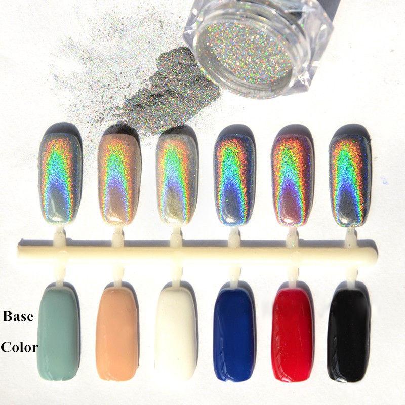 2016 New 2g/Box Holographic Laser Powder Punk Nail Glitter