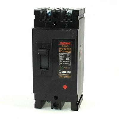 Ac 380 V 100 Amps 2 P 2 pólos moldado do caso disjuntor DZ15-100 / 290(China (Mainland))