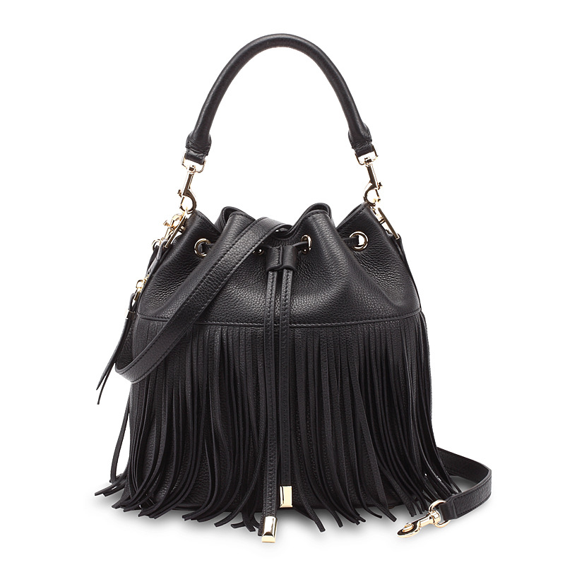Classic Tassel bag - Fringed Women handbags shoulder bag lady cross body leather bucket women's fashion charming bags(China (Mainland))